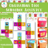 Christmas Dice Sentence Activity