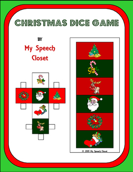 Christmas Dice Speech Therapy Game