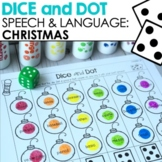 Christmas Dice & Dot For Speech & Language