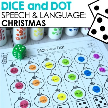Christmas Dice & Dot For Speech & Language