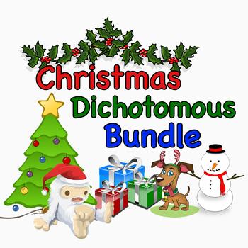 Christmas Dichotomous Key Worksheet Bundle