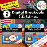 Christmas Digital Breakout BUNDLE - Christmas Escape Room BUNDLE