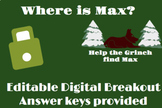 The Grinch Themed Christmas Digital Breakout- Where is Max?