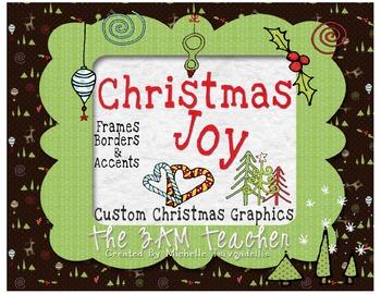 christmas digital clip art accents borders frames by the 3am teacher