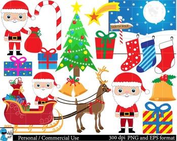 Christmas Digital Clip Art Graphics 41 images cod43