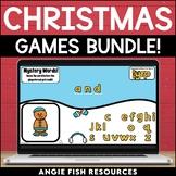 Christmas Digital Game Bundle | December Digital Sight Word Games