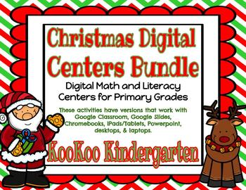 Christmas Digital Literacy and Math Centers Bundle (Compatible with Google Apps)