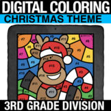 Christmas Digital Math Coloring Division Practice Digital