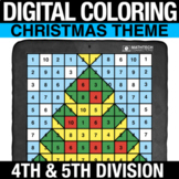 Christmas Digital Math Mystery Picture Long Division - Dig