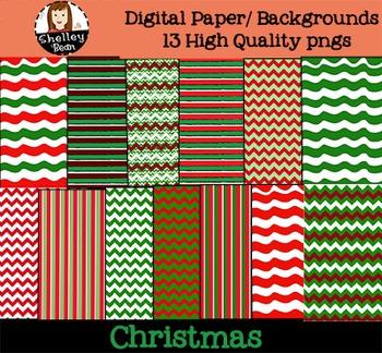 Christmas Digital Paper / Backgrounds