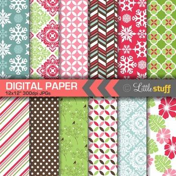 Christmas Digital Paper Set