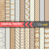 Christmas Digital Paper Value Pack, Winter Backgrounds, Silver and Gold