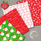 Christmas Digital Paper and backgrounds,Sanat Claus and Gifts, AMB-1413