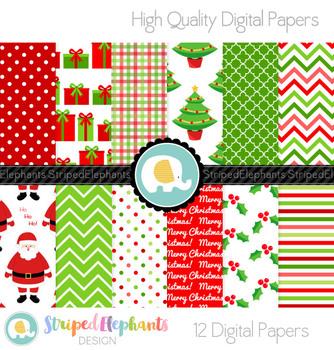 Christmas Digital Papers