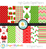 Christmas Digital Papers