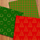 Christmas Digital Papers / Christmas Backgrounds / Classic Christmas Patterns