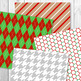 Christmas Digital Papers, Holiday Scrapbook Paper, December Background Printable