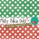 Christmas Digital Papers {Misty Snowy Night} Polka Dots {C