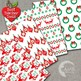 Christmas Digital Papers, Traditional Holiday Backgrounds, Scrapbooking AMB-1121