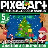 Christmas Digital Pixel Art Magic Reveal ADDITION
