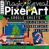Christmas Digital Pixel Art Magic Reveal ADDITION & SUBTRACTION