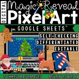 Christmas Digital Pixel Art Magic Reveal MULTIPLICATION