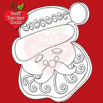 Christmas Digital Stamps, Gingerbread Cookie Black Line Clipart, AMB-2293