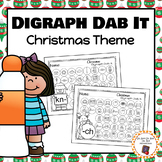 Christmas Digraph Dab It Worksheets