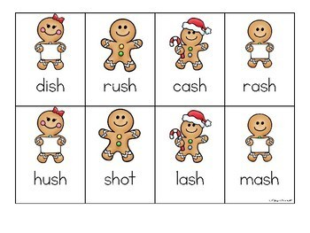 Gingerbread Man Activities for Digraphs