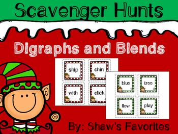 Christmas Digraph and Blend Scavenger Hunts