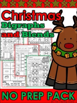 Christmas Digraph and Blends Super Pack