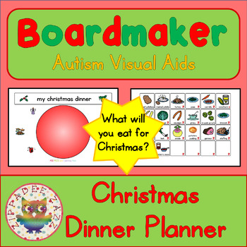 Christmas Dinner Planner - Boardmaker / Autism / ADHD / AS
