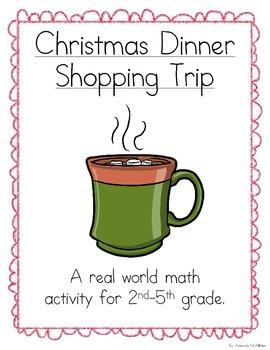 Christmas Dinner Shopping Trip (A Math Activity)