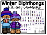 Christmas Diphthong Game for Fluency: Snowman Theme