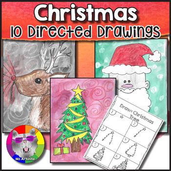 Christmas Directed Drawings for your Classroom! Get ready for Christmas in your amazing classroom with 10 Directed Drawing Lessons for your students.