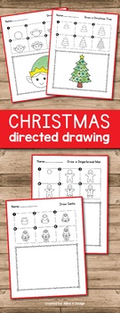 Christmas Directed Drawing - Christmas Activities for Kindergarten