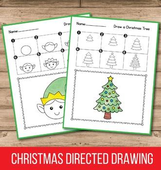Christmas Directed Drawing - Christmas Activities for Kindergarten