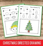 Christmas Directed Drawing - Christmas Activities for Kind