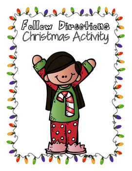 Christmas Directions Activity