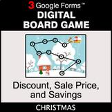 Christmas: Discount, Sale Price, Savings - Digital Board G