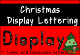 Christmas Display Lettering