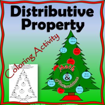 Christmas Distributive Property Activity- TEKS 6.7C, 6.7D