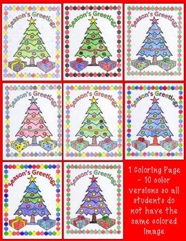 Christmas Math Distributive Property With Negatives Color Surprise Activity