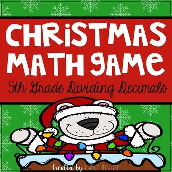 Christmas Dividing Decimals Game