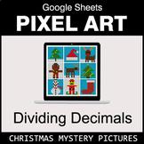 Christmas - Dividing Decimals - Google Sheets Pixel Art