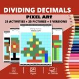 Christmas: Dividing Decimals Pixel Art Mystery Pictures