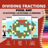 Christmas: Dividing Fractions Pixel Art Mystery Pictures