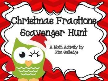 Christmas Dividing Fractions Scavenger Hunt - 6.NSA.1