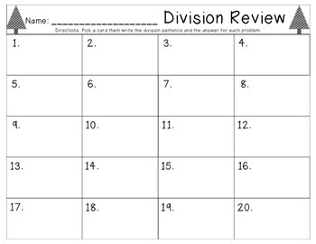 Christmas Division Activity