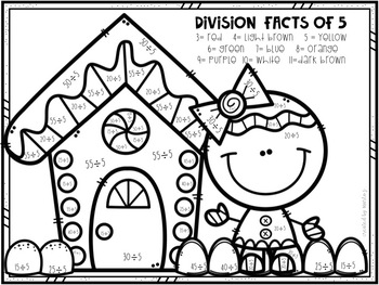 Christmas Division Color-By-Number 2-12